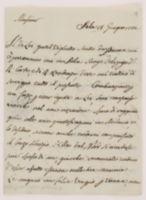 Monsieur. Sala 18 Giugno 1782. Il di Lei gentil biglietto scritto [incipit]