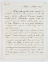 A.C. Rubiera 5 Febbraio 1773. Ad ogni patto voi volete farmi arrossire. [incipit]