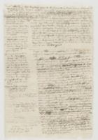 Post Templarios [incipit p.1];  Finale 11. Nov. 1781 [?] O. P. Coll'unita lettera 22. [?] avvisa il Sig. Conte Gov. [incipit p. 2 upside down]